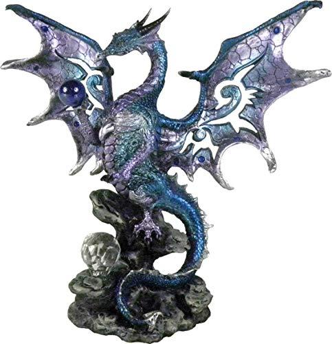 Nemesis Now Blue Dragon Protector 20.5cm Figurine Figur mit blauem Drachenschutz, 20,5 cm,...
