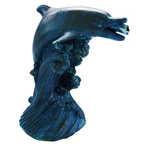 Ubbink Teichfigur Wasserspeier Gartenfigur Teich Gartendeko Delfin 18 cm 1386020