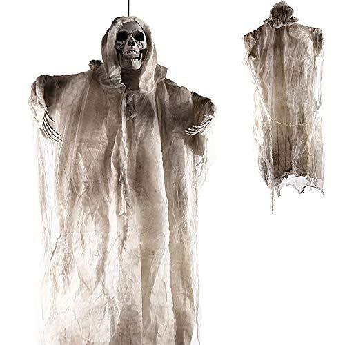 PIKOVIC Halloween Deko Figuren Lebensgroß 180cm Groß Geist Gespenst Hängend Herrlich Gruselig...