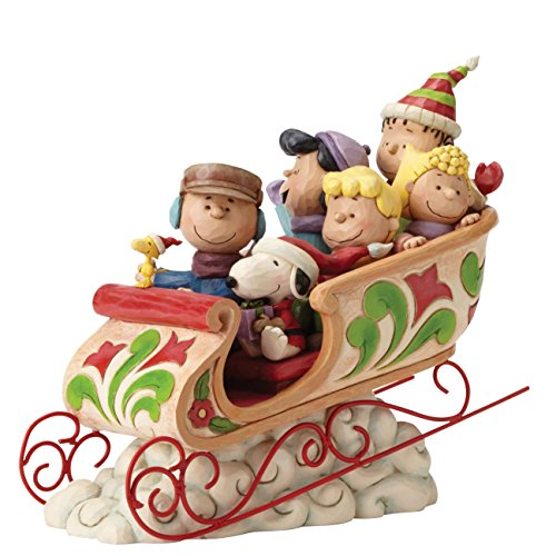 Enesco Dashing Through The Snow (Charlie Brown & Peanuts Gang)
