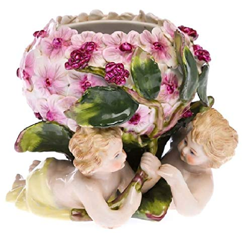 aubaho Porzellan Engel Blumen Schale Zierschale Figur Engelfigur antik Stil Porcelain