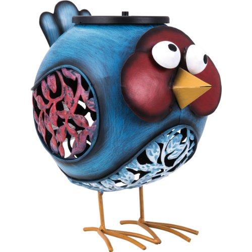 Vogel mit LED Beleuchtung und Solarzelle - schaltet automatisch an/aus Gartenfigur mit zusätzlichem...