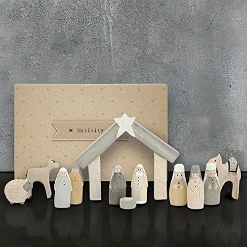 Natural Little Box Krippenfiguren-Set