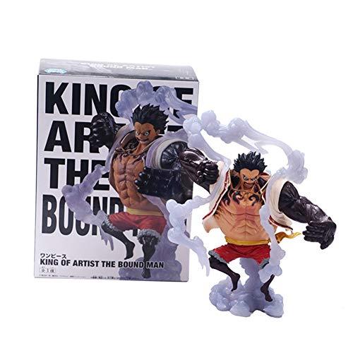 Yuxareen Anime One Piece Figur Monkey D Luffy Gear 4 Actionfiguren Vinyl Figur Statue Sammlerstück...