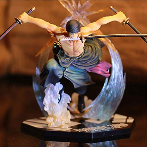 STHEATER Anime One Piece Ronoa Zoro Ghost 3d2y DREI-Messer Ghost Cut Ver. Sauron PVC Actionfigur...