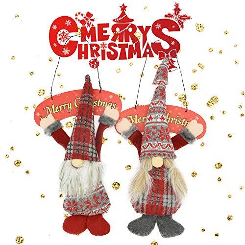 zrgwl Weihnachtswichtel, Plüsch-Ornamente, Kobold, Weihnachtsbaum, zum Aufhängen, Elfen, niedliche...