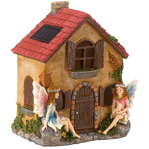 Dicoal 1020982 1020982 Feenhaus mit Licht 21 x 16 cm, braun