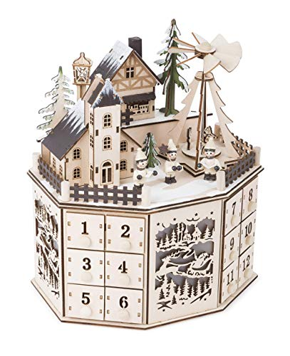 small foot Adventskalender mit Pyramide, 10997, Natur, one Size