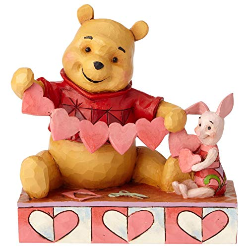 Disney Traditions Handmade Valentines - Pooh and Piglet Figur, Mehrfarbig