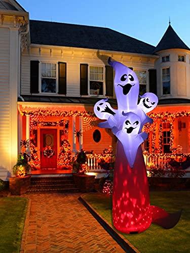 Kalolary 10.8FT Ghost Aufblasbar Deko Halloween Dekoration, Halloween Ghost Inflatables mit...