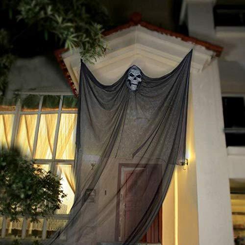 PIKOVIC Halloween Deko Gespenst Türvorhang Gruslig Horror Figuren Geist Tür Garten Dekostoff...