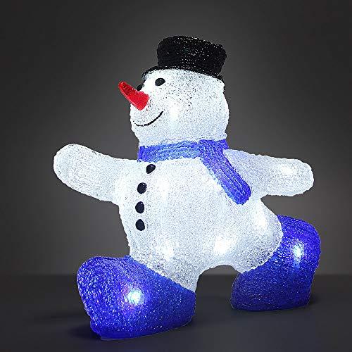 Deuba LED Acryl Figur Weihnachtsdeko Schneemann beleuchtet Weihnachten Deko Indoor Outdoor...