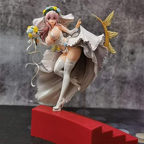 BAONIOU Anime Statue 30 cm Super Sonico hochzeitskleid ver sexy mädchen Action Figur Anime...