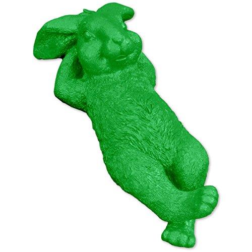 SHACAMO XXL Hase liegend Grün aus Magnesia, ca. 48 cm