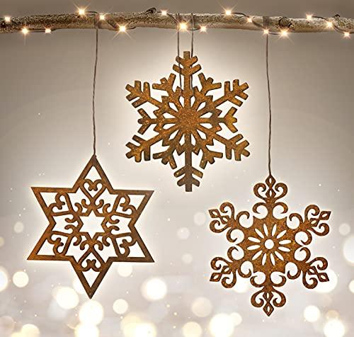 Terma Stahldesign Weihnachtsdeko rost Sterne 30cm, fensterdeko Winter, edelrost deko Weihnachten...
