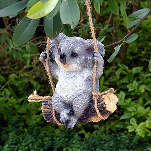 niawmwdt Statuen Und Skulpturen,1Pc Garden Yard Dekoration Simulation Koala Panda Statue Tiere...