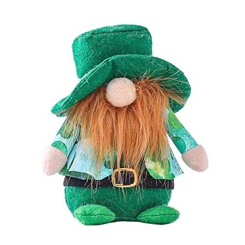 Huhu833 Ostern Deko Wichtel 23 cm Hoch,St. Patrick's Day Plüsch Schwedischen Santa, Schwedische...