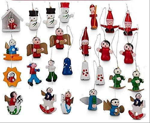 Quickdraw 24 Feine Details Handgefertigt Traditionell Hölzern Weihnachtsbaum Wandbehang...