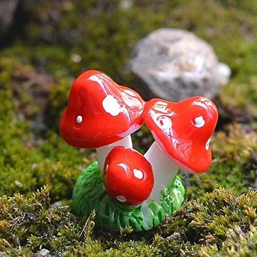 FUSSUF Rote Minipilz Resin Crafts-Fee Garten Miniaturen Garten Ornament Dekoration Terrarium Figuren...