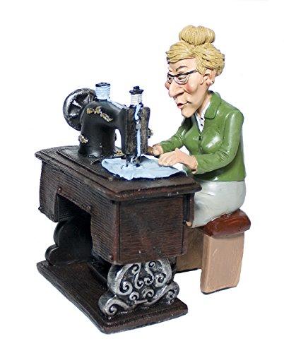 Funny Jobs Schneiderin Näherin mit Nähmaschine Berufsfigur Comicfigur Figur witzig der Reihe