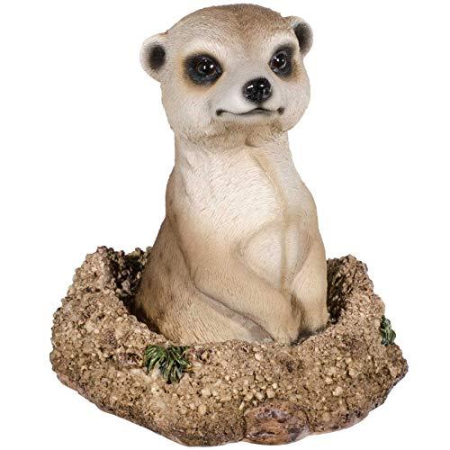 SIDCO Deko Erdmännchen Garten Skulptur Tierfigur Gartendeko Figur lebensecht