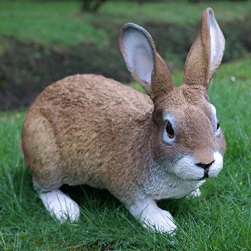 Dekofigur Hase Kaninchen Tierfigur Gartenfigur Wildkaninchen Zwerghase