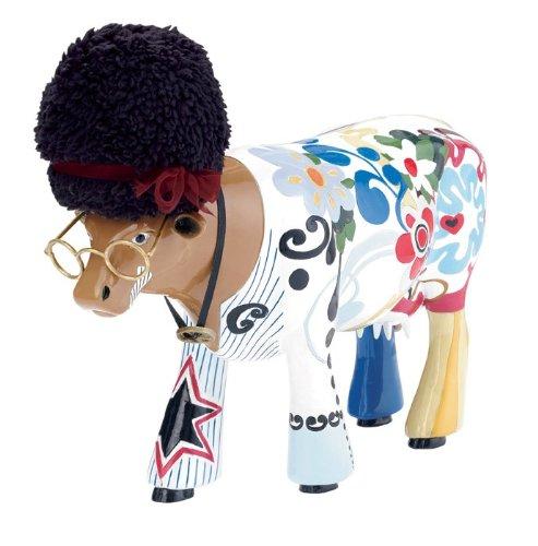 CowParade Cow - Woodstock (L) - Resin, 30cm #46702