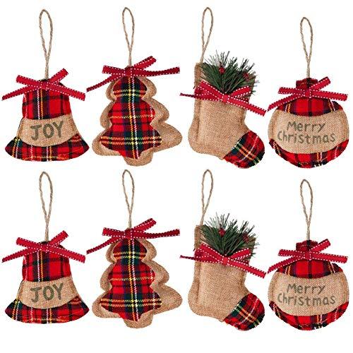 Christbaumanhänger 8 Weihnachtsbaumschmuck Deko-Anhänger aus Filz Christbaum Anhänger Hängende...