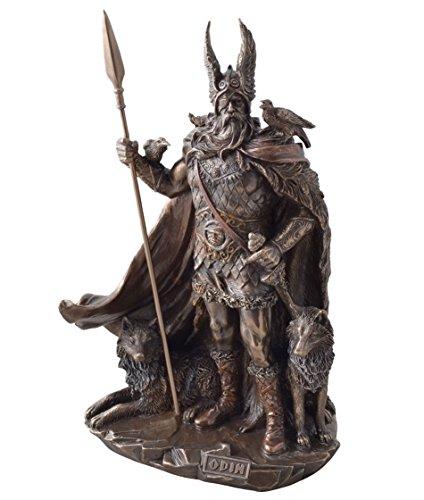 Veroneses Figur Odin Germanischer Gott Wodan bronziert nordische Götter