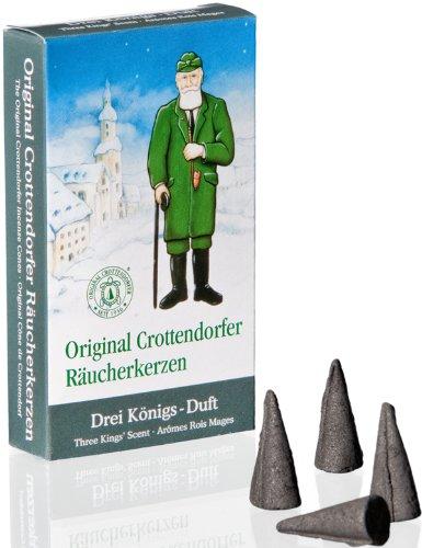 Rudolphs Schatzkiste Räucherkerzen Räucherduft Crottendorfer 3 Königs-Duft 24 Räucherkerzen...