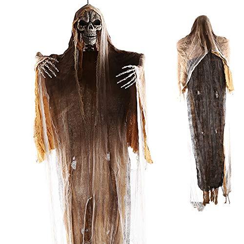 PIKOVIC Halloween Deko 180cm Groß Geist Gespenst Hängend Herrlich Gruselig Skelett Figur Horror...