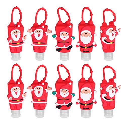 Cabilock Kinder Reiseflaschen Schlüsselanhänger Weihnachten Mitgebsel Figuren Silikon Flip Cap...