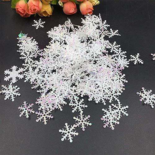 Luopei Schneeflocke 300 Stück/Set weiße gefälschte Schneeflocke Weihnachtsmann hängende...