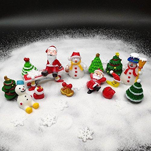 EMiEN 26-teiliges Miniatur-Ornament-Set für DIY Feengarten, Puppenhausdekoration, weißer Sand,...