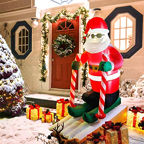 CCLIFE Led Weihnachtsmann Beleuchtet Aufblasbar outdoor Außenbereich Weihnachtsbeleuchtung...