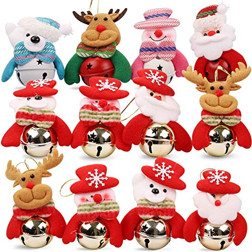 HomeMall 12 Stück Weihnachten Glocke Dekorationen Jingle Bells Verzierung für Haus,...
