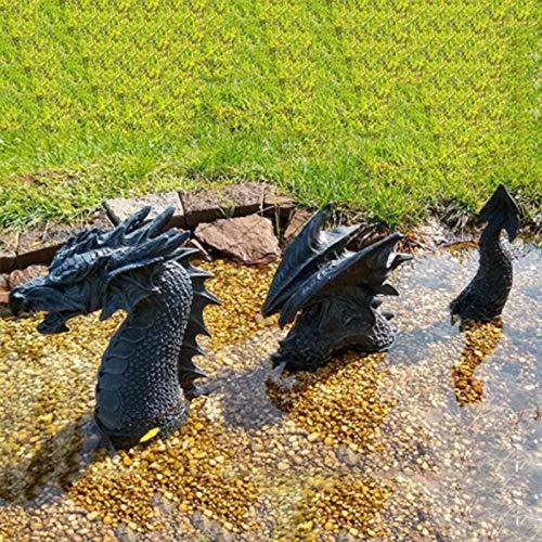 Gartendeko Drache Harz Gotisch Gartenstatuen,Drache Tierfiguren Tierstatuen...