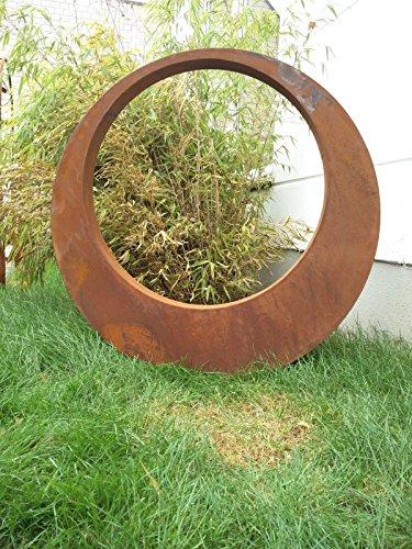 Zen Man Edelrost Gartenstecker Rost Gartenskulptur (aus Metall) Garten Figure Glück Symbol...
