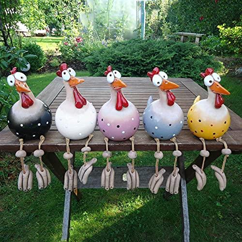 1/5 Stücke Keramik Huhn Gartendeko Hühner Deko Garten Statuen Tiere Garten Keramik Dekoration...