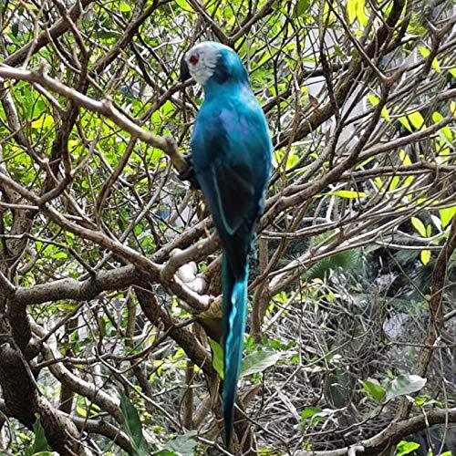 SSLLH Gartendeko Papagei Skulptur,Papagei Figuren,Realistische Papagei Ara Gartenfigur aus Harz...
