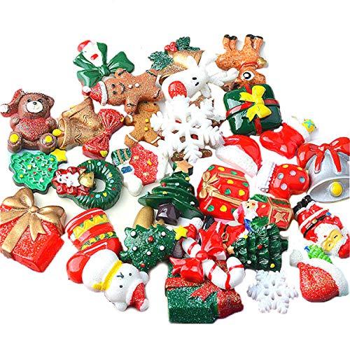 Guador Weihnachten Miniatur Ornamente, 50 Stücke zufällig Weihnachten Dekofiguren Zubehör...