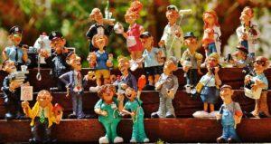 Figurengruppenbild Funny Job Figuren Polysterin