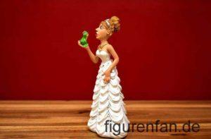 Braut Hochzeit mit Froschkönig auf der Hand