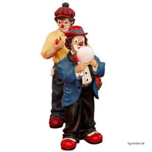 2 Clowns Figuren Polysterin Kunstharz