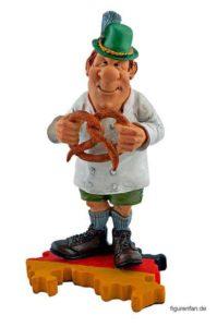 Bäcker mit Brezel Polysterin Figur
