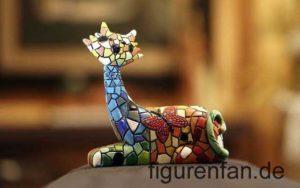 Kunst Katzenfigur mit Mosaik