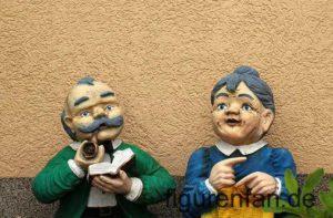 Gartenfiguren wetterfest altes Paar