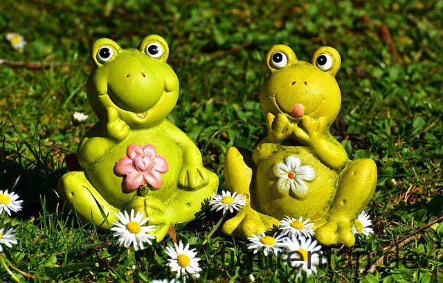 Frosch Gartenfigur Set wetterfest