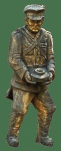 Holz geschnitzt Soldat Mine