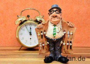Uhrenhändler Figur